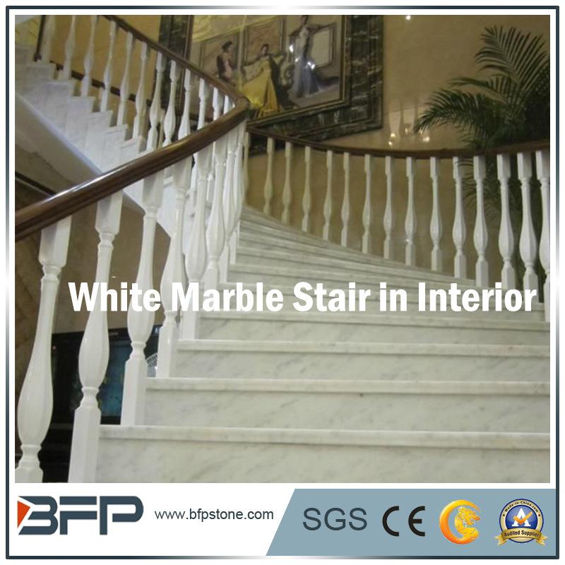 Popular White Marble Stairs/Step U0026 Riser For Floor/Upstair Interior