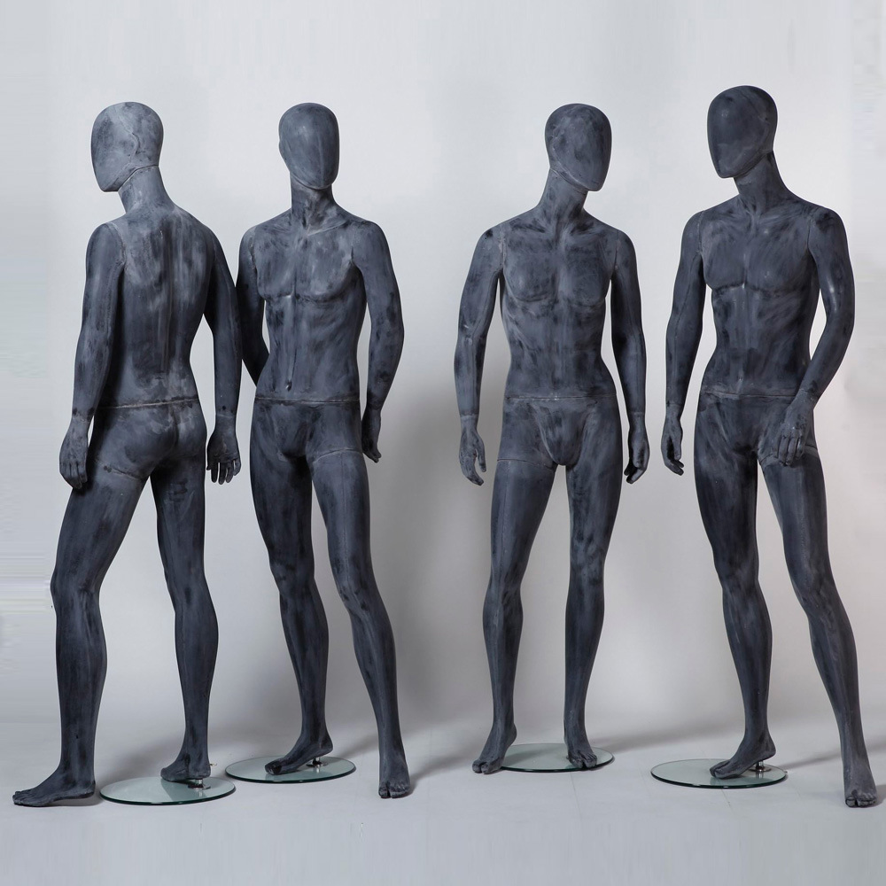 Fiberglass Grey Cement Male Mannequin for Clothings Display