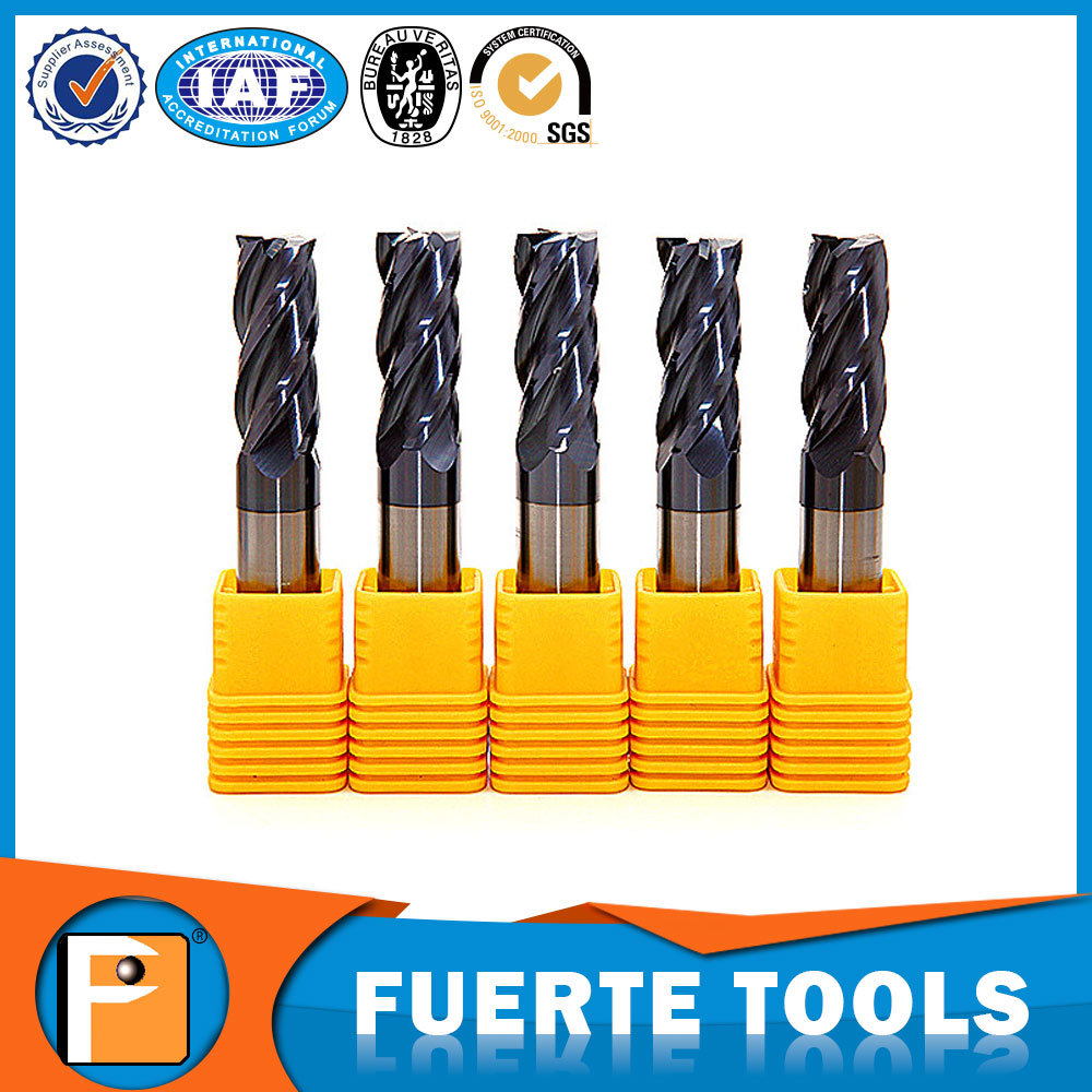 ISO Tungsten Carbide Flat End Mill for Mould Steel Milling