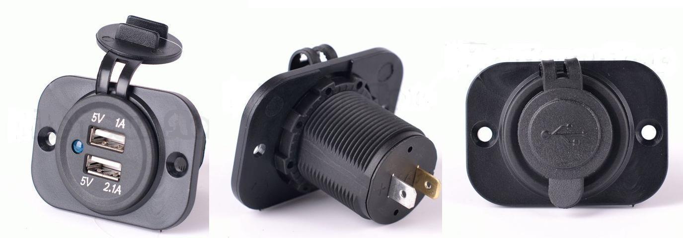 12V Dual USB Charger Power Adapter Outlet Car Cigarette Lighter Socket Splitter