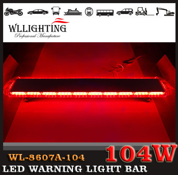 55inch Emergency Vehicle Fire Truck LED Light Bar Red