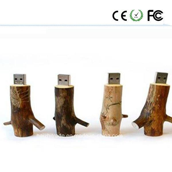 Swivel Wooden Fashion Gift USB Flash Drive (USB2.0&USB3.0)