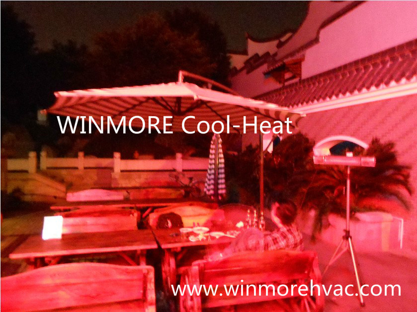 Open Air Restaurants/Open Area/Office/Outdoor Infrared Heater Remote Control with Gold Lamp