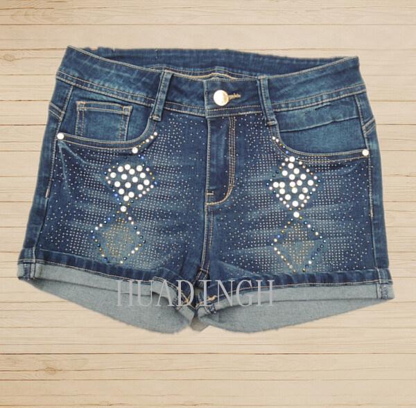 Hot Sell Fashion Summer Woman′s Ladies Blue Denim Pants Denim Jeans (Hdlj0057)