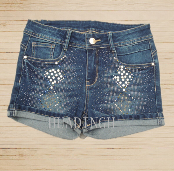 Hot Sell Fashion Summer Woman′s Ladies Blue Denim Pants Denim Jeans Hdlj0057