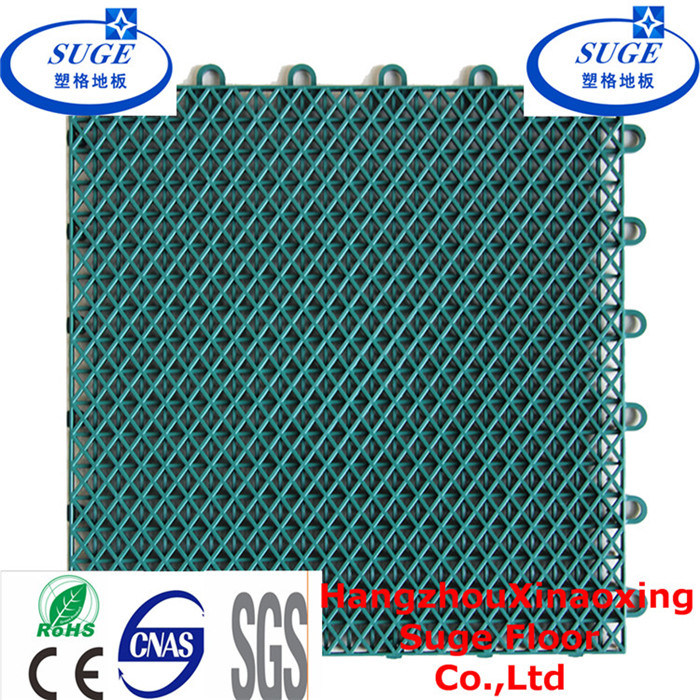 Flat Surface Anti Static Green Basketball Court Flooring
