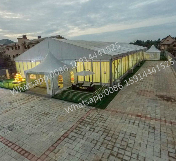 20X50m Outdoor Party Wedding Tent Romantic Crystal Wedding Marquee