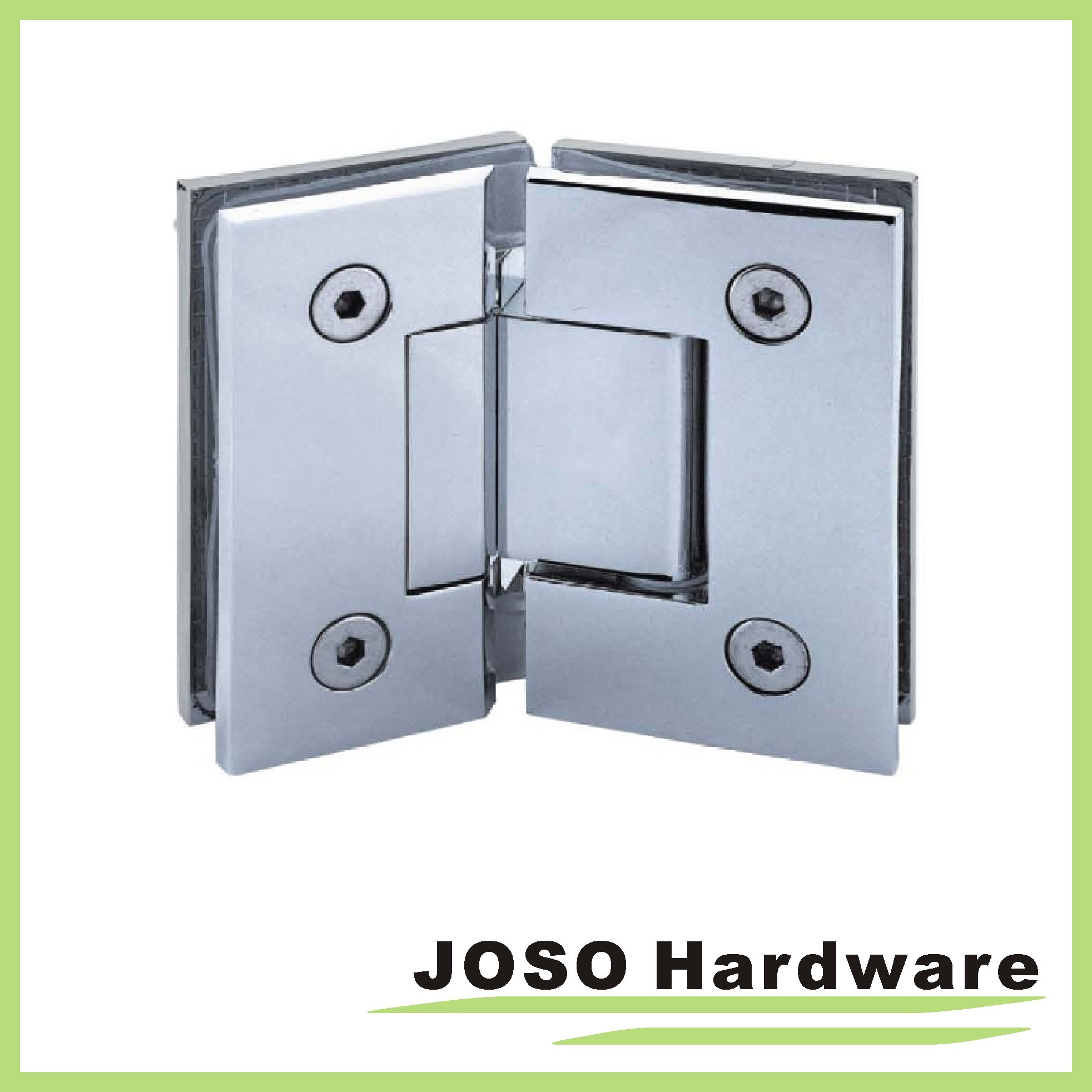 90 Degree Glass to Wall Brass Wall Mount Shower Hinge