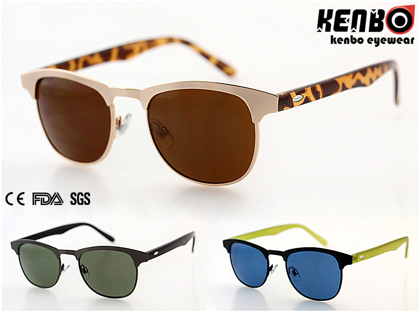 New Design Metal Sunglasses with Flat Lenskm15238