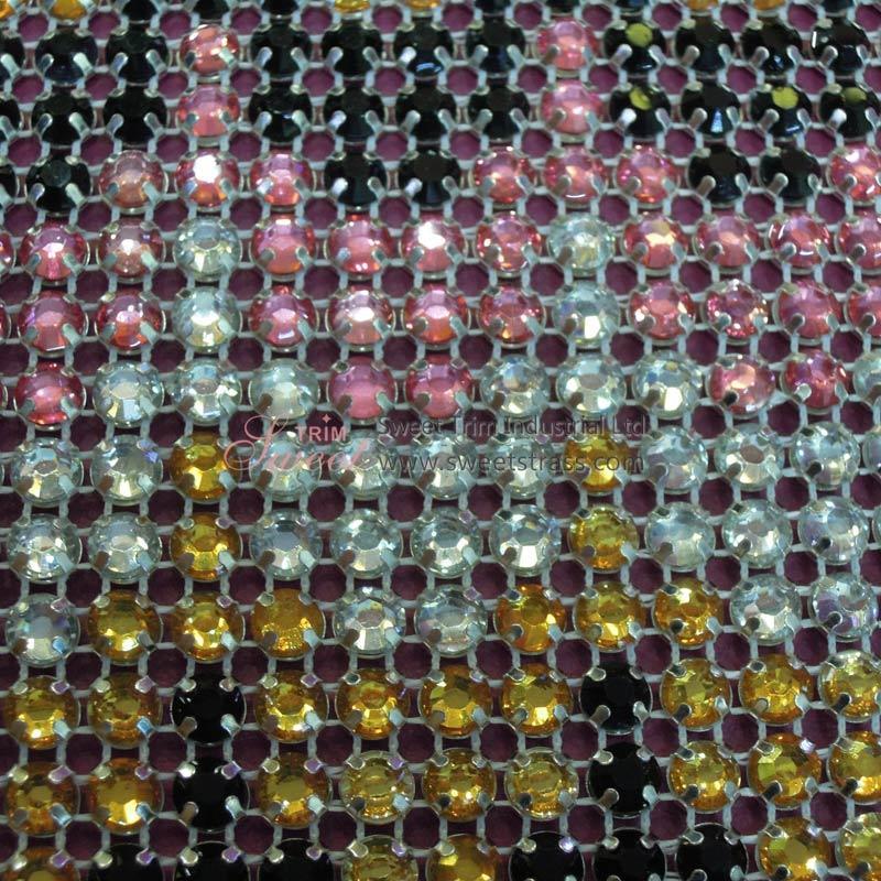 Custom Designed Crystal Mesh Roll for Dress Adornment