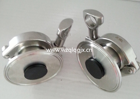 Sanitary Stainless Steel Air Purge Check Valve Quick Connect Plug