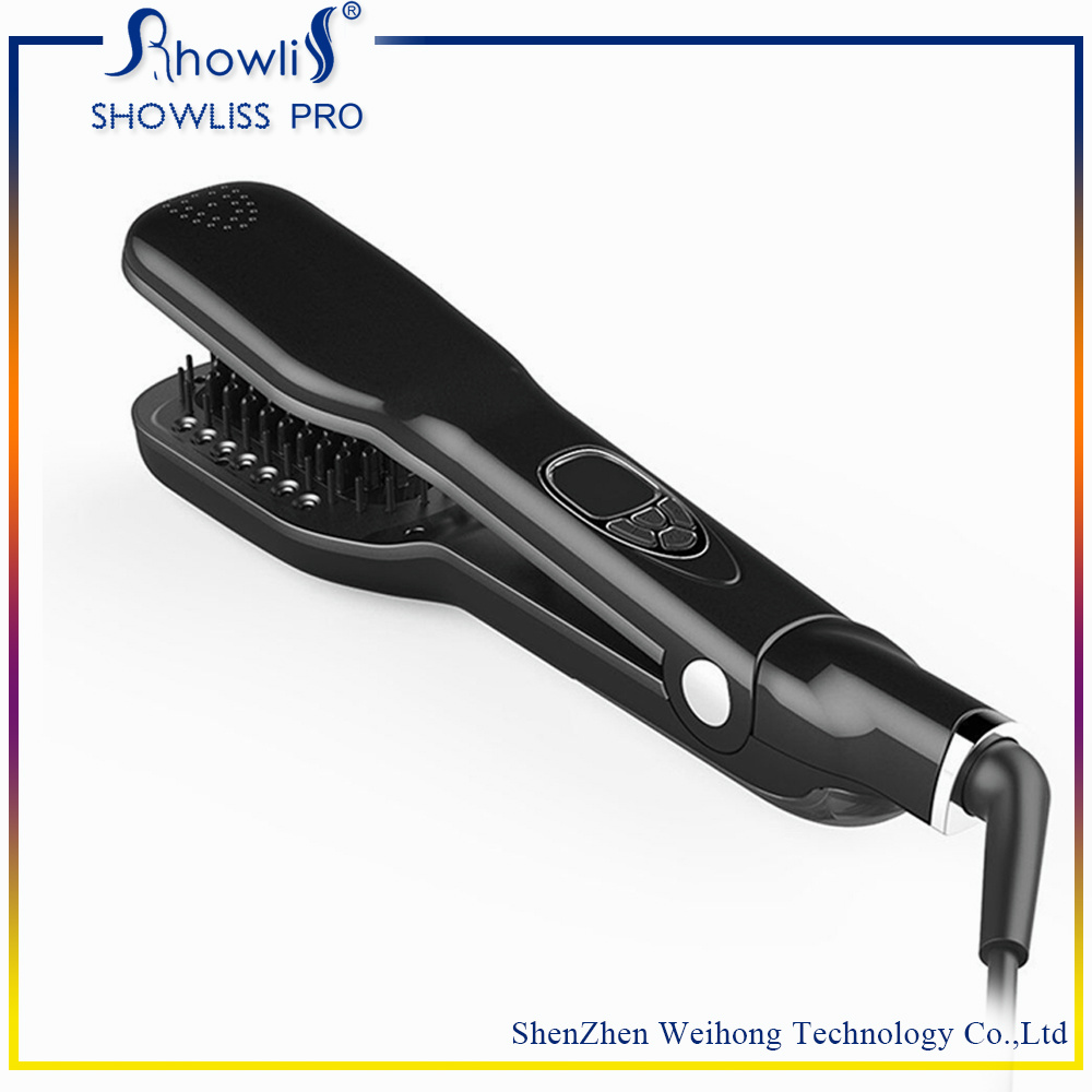 Wholesale Good Quality LCD Steam Brush Hair Straightener