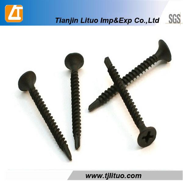 Bugle Head Drywall Screws Black Phosphated/Zinc Plated (DIN18182)