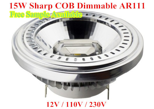 LED Dimmable 15W Sharp COB LED AR111 Light