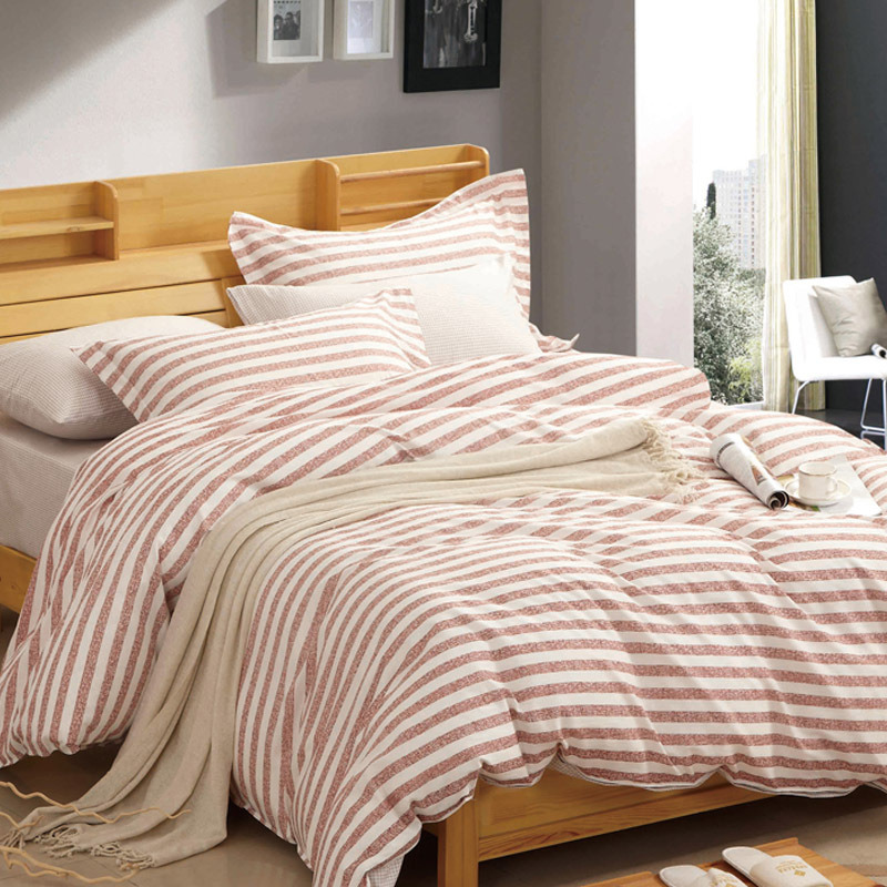 Textile 100% Cotton High Quality Bedding Set for Home/Hotel Comforter Duvet Cover Bedding Set (brown streak)