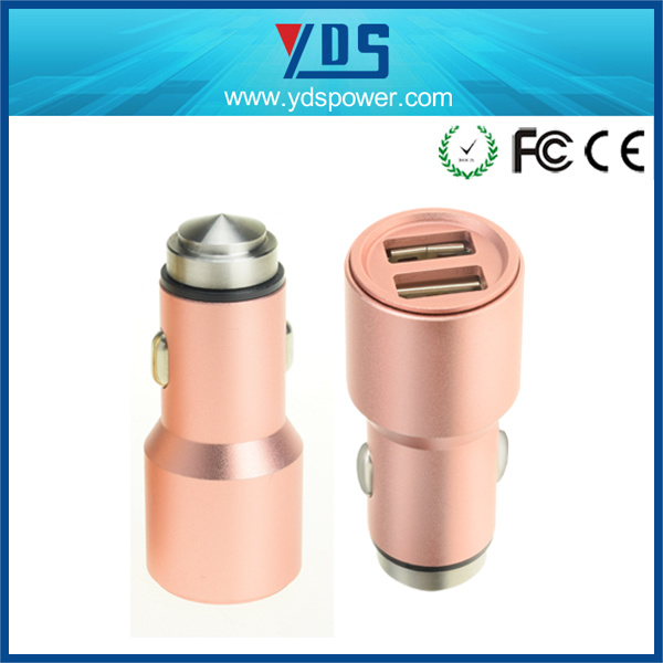 USB Charging 2.4A Car Charger for iPod Tablet