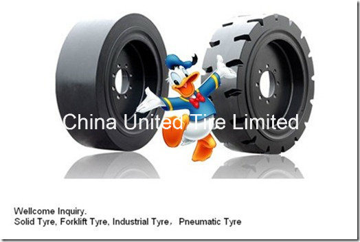 Forklift Solid Tire 4.00-8, 5.00-8, 6.00-9, 700-12, 815-15.