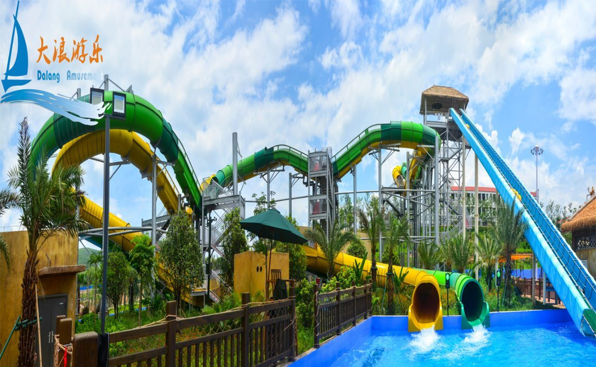 Double Roller Coaster Water Slide