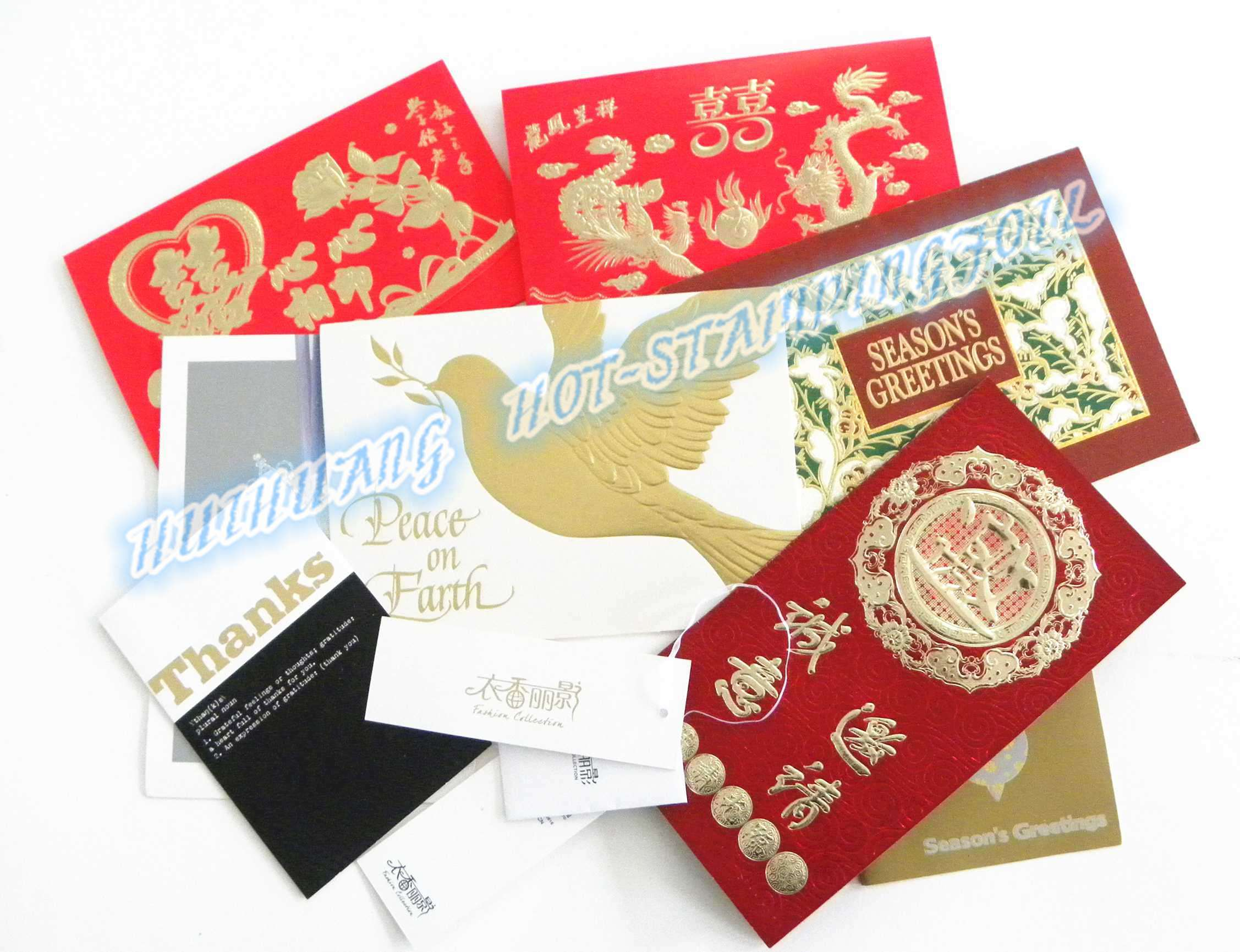 Hot Stamping Foil for Greeting Cards