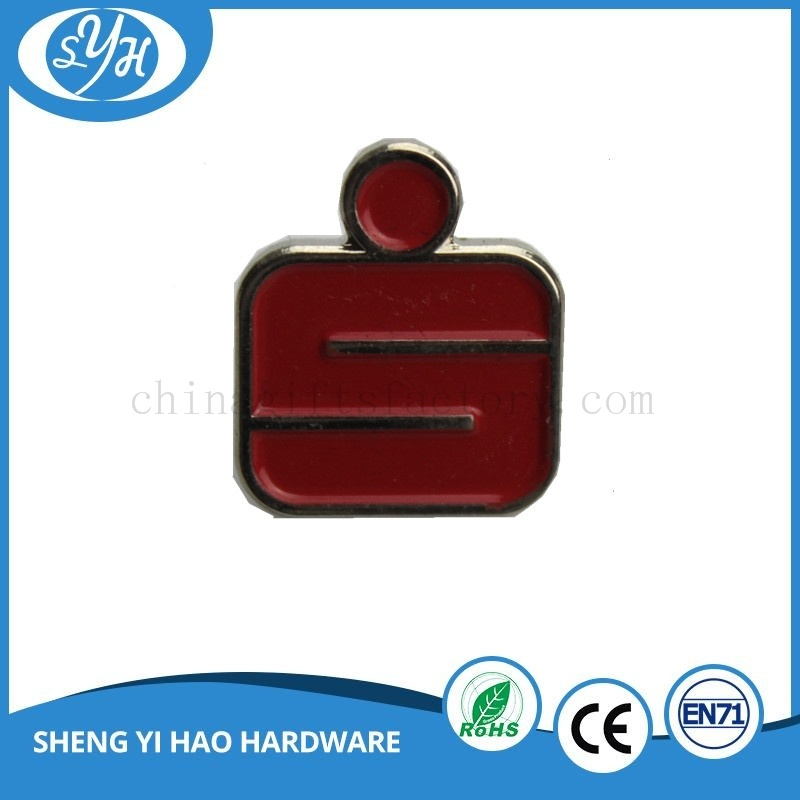 Gold Plating Hard Enamel with Crystal Badge