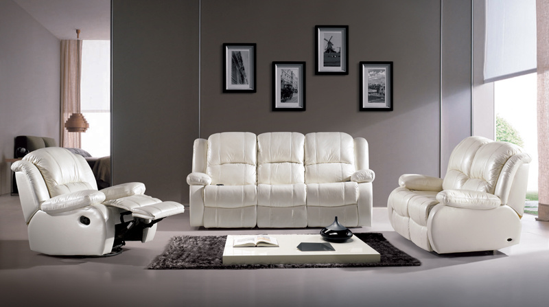 Leather Fabric Reclining Sofa Bed Chair Home Cinema Furniture Recliner