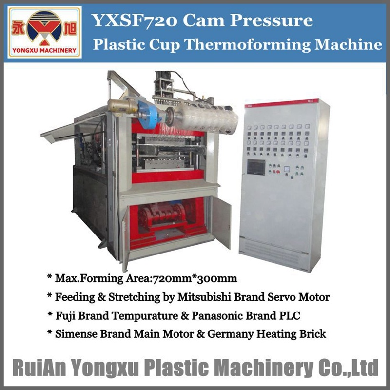 Disposable Plastic Cup Thermoforming Machine, Automatic Hydraulic Thermoforming Machine, Plastic Cup Making Machine, Servo Driven Plastic Cup Machine (YXSF)
