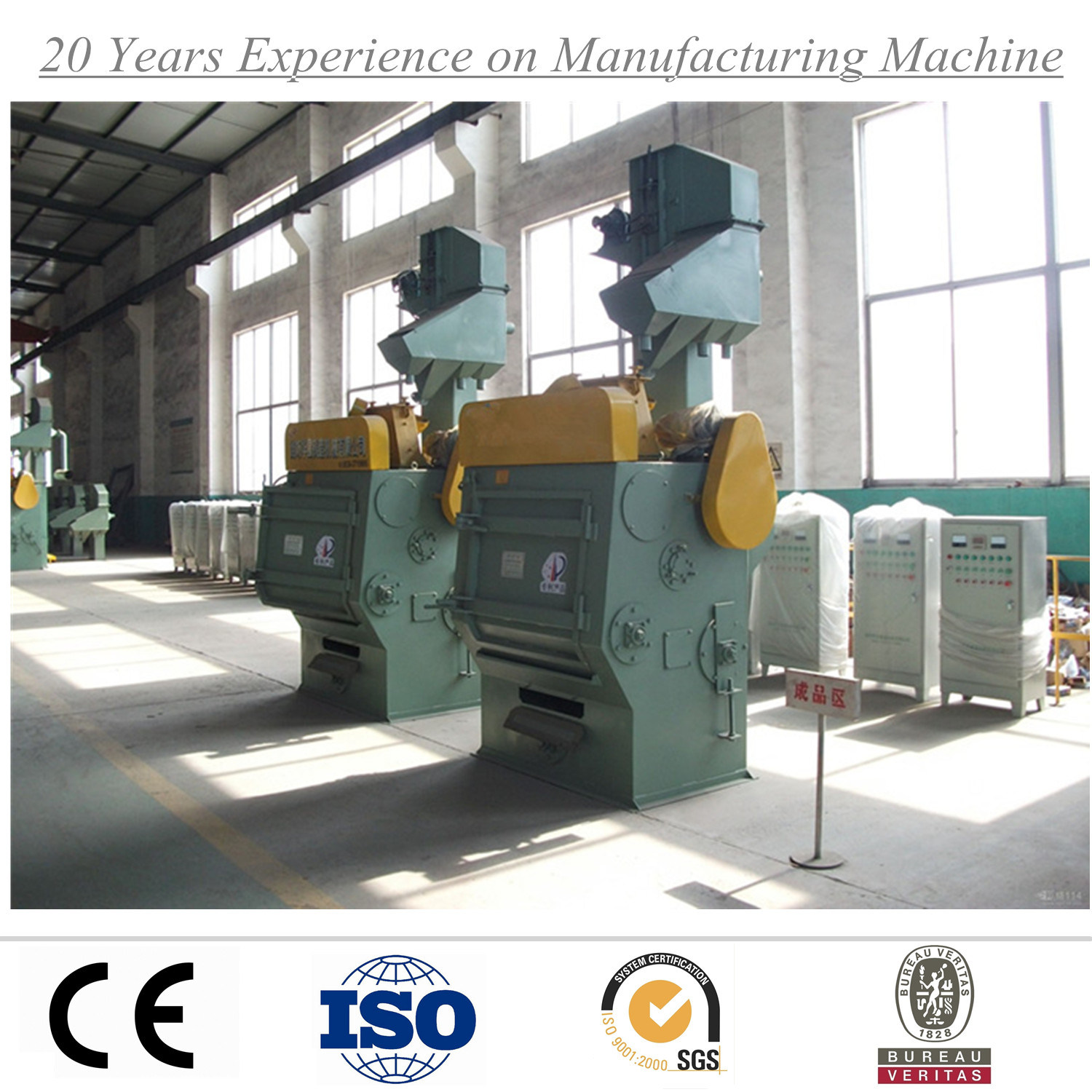 Q3210 Tumble Belt Shot Blasting Machine for Cleaning Stainless Steel