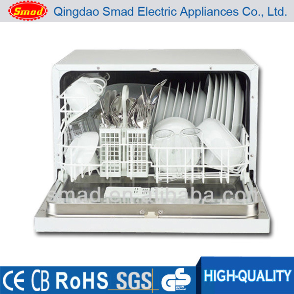 6 Sets Home Use Automatic Table Top Mini Dishwasher