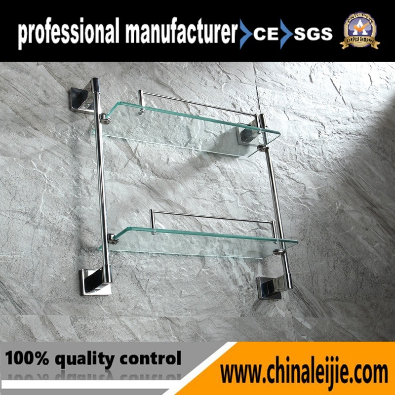 Elegant Stainless Steel Glass Shelf for Bathroom Accessory