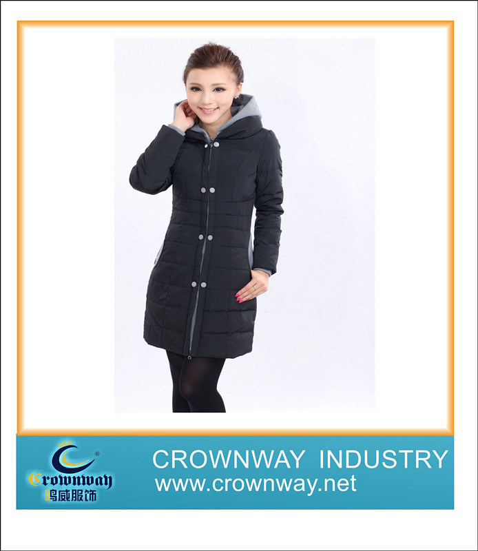 New Design Winter Lady Down Coat with Hooded