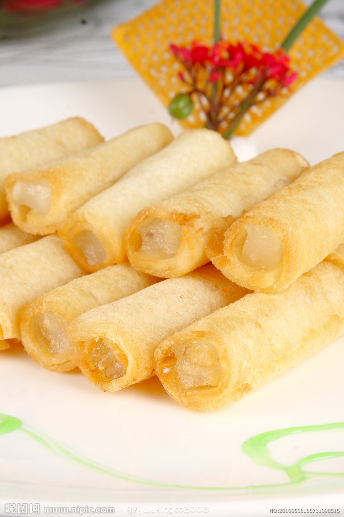 Flat-Shaped Vegetable 50g/piece Spring Rolls