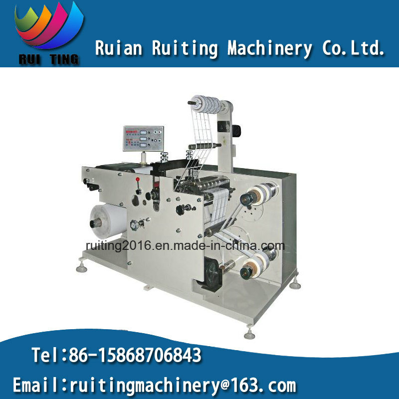 Rtq-320 Adhesive Blank Label Paper Rotary Die Cutter with Slitting