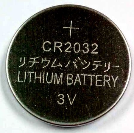 3V Cr2032 Coin Cell Battery