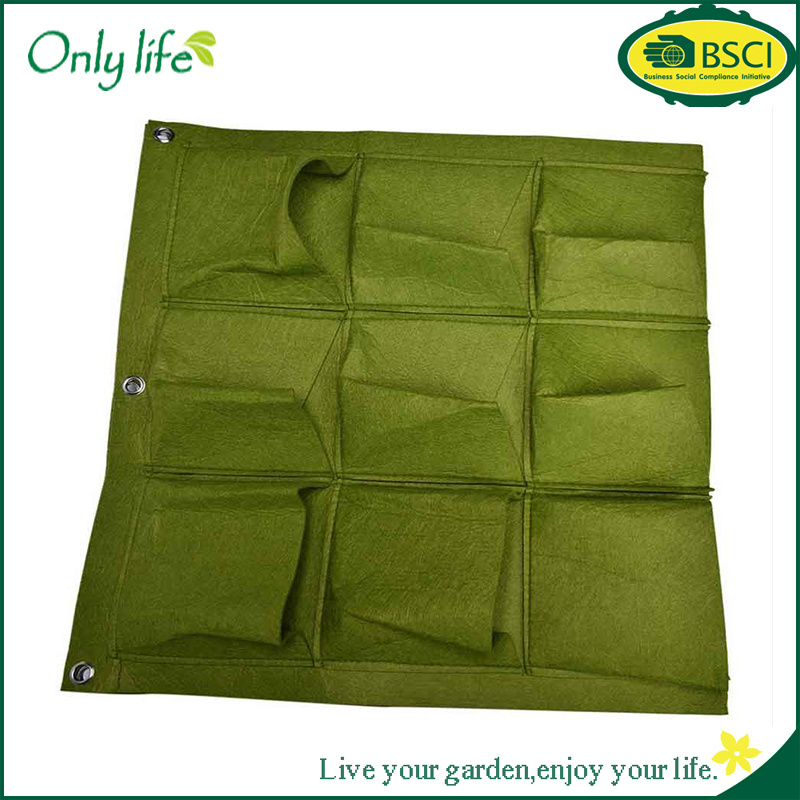 Onlylife Hot Sale Durable 9 Pocket Indoor Vertical Garden Planter