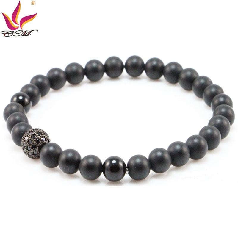 SMB006 Popular Black Mat Onyx Bracelet