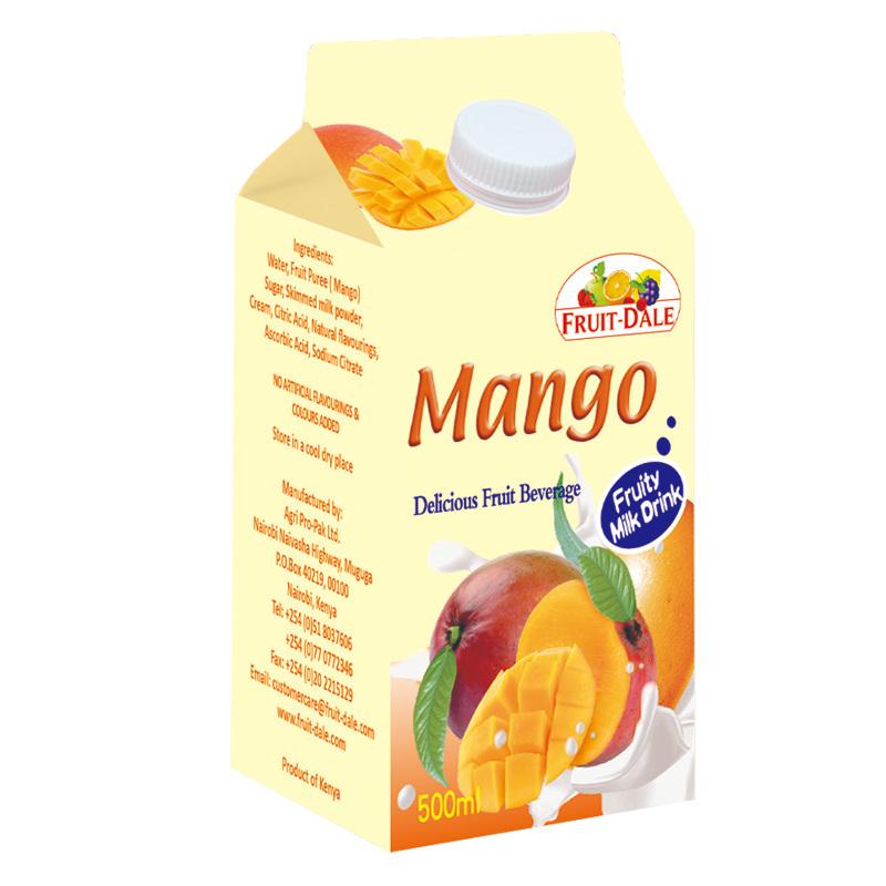 500ml Mango Juice Gable Top Carton with Aluminium Foil