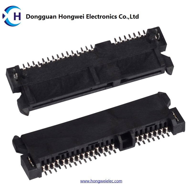 Female 7+15p 90degree H=4.3mm SMD SATA Connector