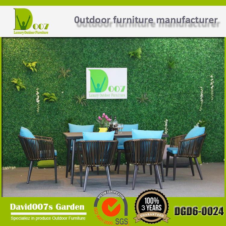 Modern Design Outdoor Garden Furniture Rattan Dining Set