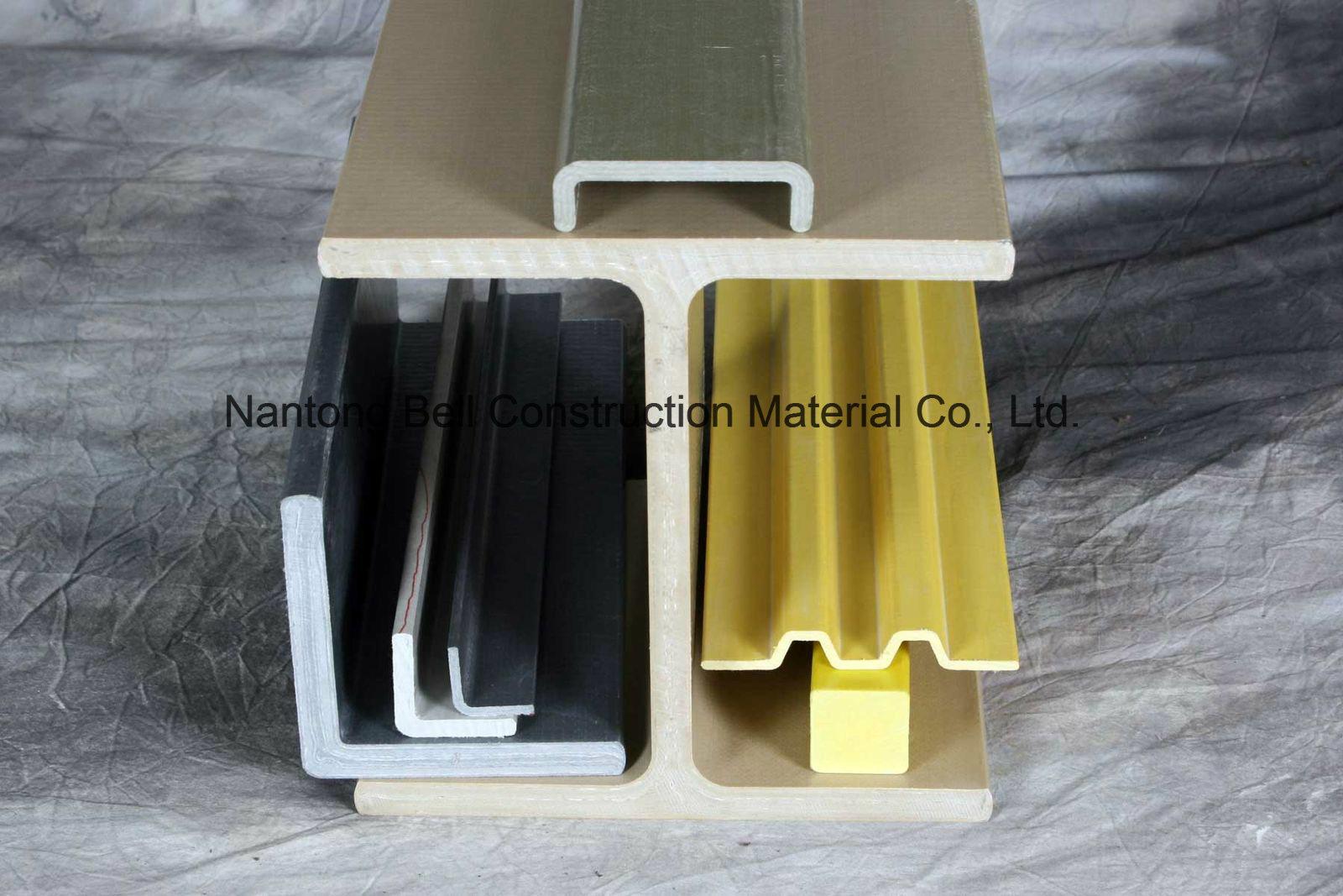 FRP/GRP Pultruded Profiles, Fiberglass I-Beam Pultrusions, Glassfiber I Beam.