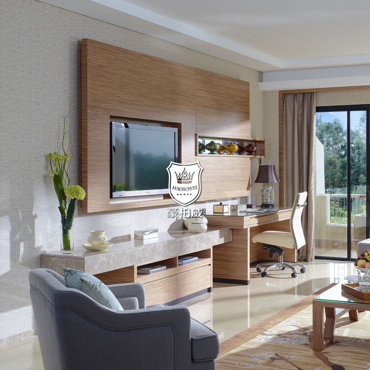 China Hotel Living Room Wall Unit for TV Latest Design Timber Wall .