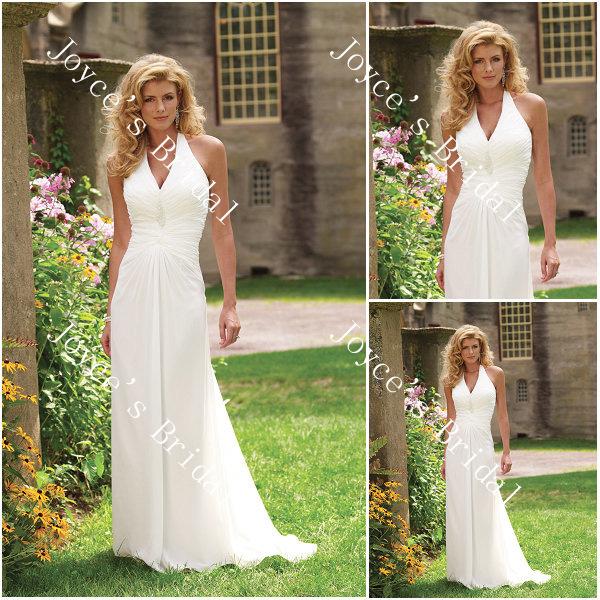Halter Wedding Dresses For Beach Weddings - Wedding Short Dresses