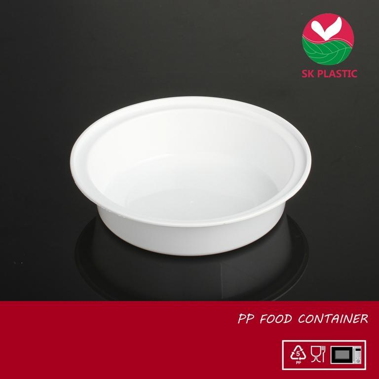 Round Plastic Food Container (723 White)