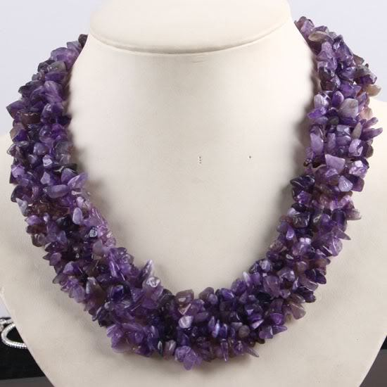 amethyst stone necklace - photo #1