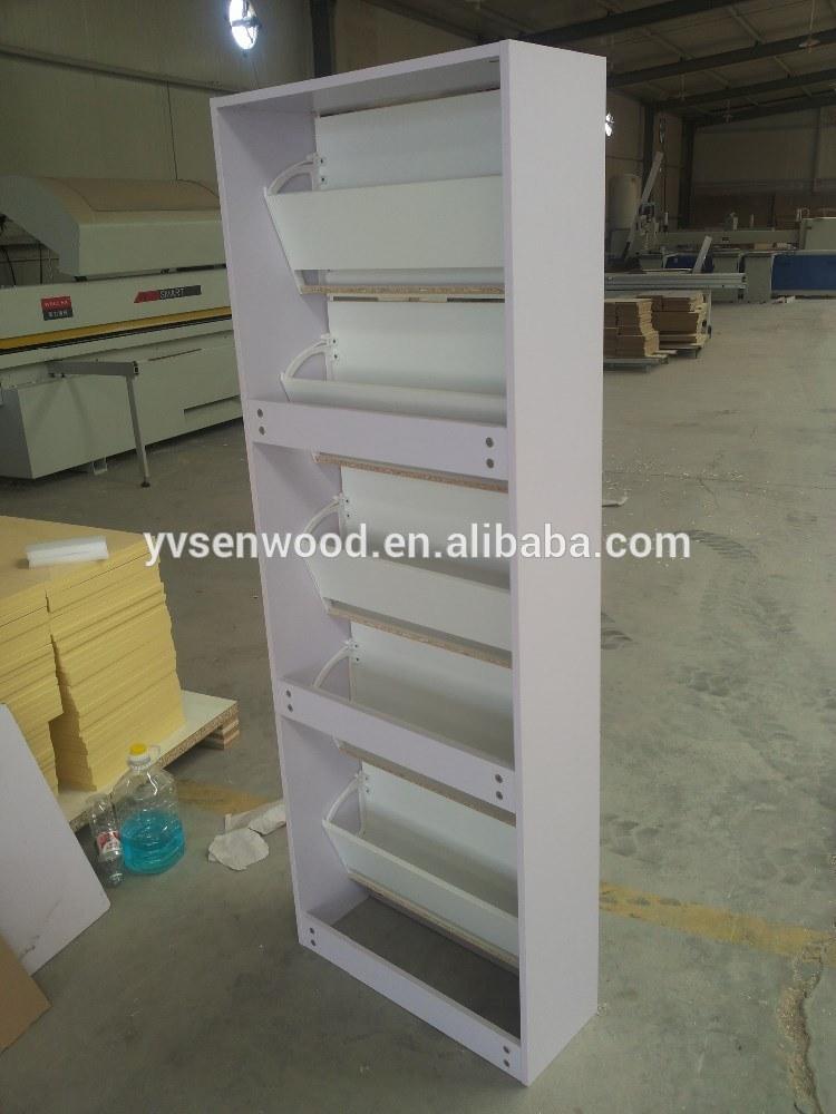 5 Doors Mirror Shoe Cabinet