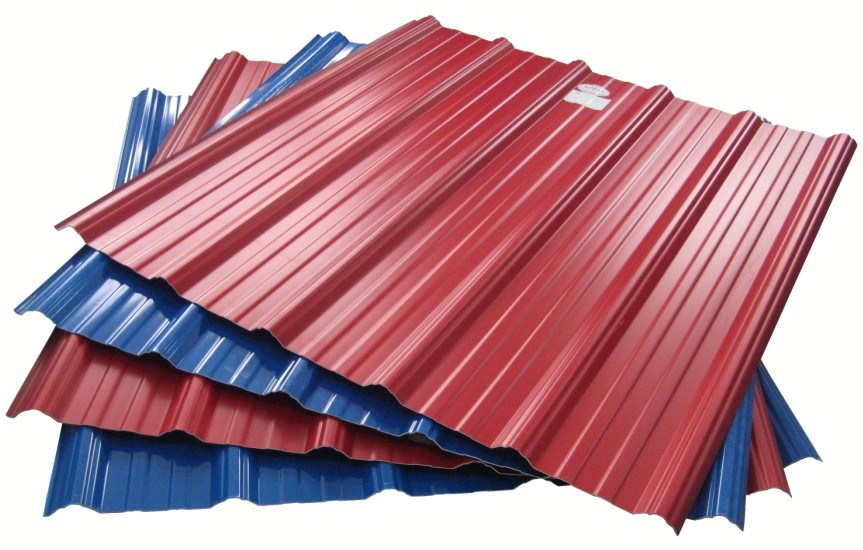 Vinyl Roofing Sheets : China heat preservation pvc plastic corrugated coated