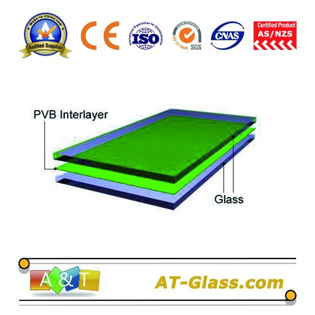 6.38mm Laminated Glass with Tempered Glass/Toughened Glass