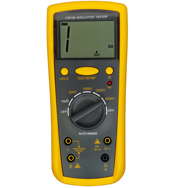 China digital insulation tester it811b china insulation tester meg ohmmeter
