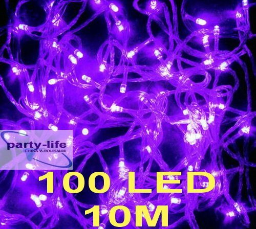 Purple 10m 100 LED String Fairy Lights for Wedding Party Decorate
