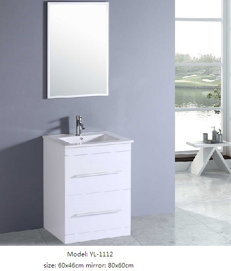 Sanitary Ware Home Furniture with Ceramic Basin Mirror