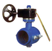 200 300psi grooved end butterfly valve